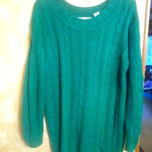Maggie Lawrence teal knit sweater